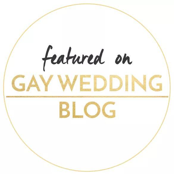 Featured on Gay Wedding Blog Badge